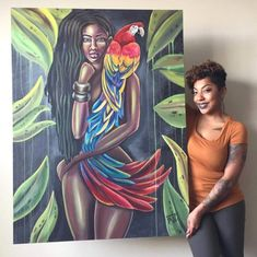 A black woman did that '👏😍 Black Art Painting, Black Artwork, Harlem Renaissance Artists, Artist Aesthetic, Black Love Art, Queen Art, Pelo Natural, Africa Art, Hippie Art