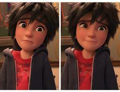 That face >D< Hahahaha<< I make that face at least 30 times a day Tadashi Hamada, Hiro Hamada, Disney And Dreamworks, Disney Pixar, Best Disney Animated Movies, Puppy Dog Eyes, Baymax, Big Hero 6, Having A Crush