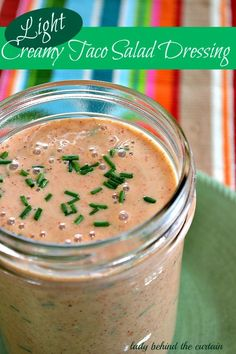 Light Creamy Taco Salad: Next time you serve a southwest dinner make this easy light ~ creamy taco salad dressing for your salad. Use this light dressing on tacos and enchiladas in place of sour cream! Mexican Salad Dressings, Southwest Salad Dressings, Mexican Salads, Mexican Food Recipes, Southwest Dressing, Southwestern Salad, Mexican Dishes, Sour Cream Salad Dressing, Vinaigrette Dressing