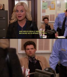 Ben is afraid of the police. (Parks and Recreation)