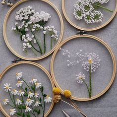 Diy Embroidery Kit, Floral Embroidery Patterns, Modern Embroidery, Hand Embroidery Patterns, Beginner Embroidery, Embroidery Hoops, Crewel Embroidery, Finishing Embroidery Hoop, Embroidery Floss Crafts