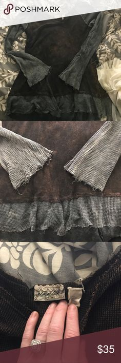 Gimmicks by BKE long sleeve waffle tunic. Gimmicks waffle tunic size XL only worn a handful of times! Has a distressed, frayed look to it! So so cute ! gimmicks Tops Tunics