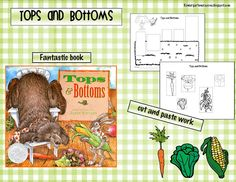 Have you read the book Tops and Bottoms by Janet Stevens? It is adorable and the best example of inferential thinking at a kindergarten. Kindergarten Crayons, Kindergarten Language Arts, Teaching Kindergarten, Teaching Science, Science Activities, Teaching Kids, Preschool, Science Ideas, Harvest Activities