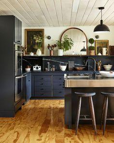 Modern Kitchen Interior Remodeling Designer Megan Pflug Transforms A Lodge Kitchen And Bath, New Kitchen, Kitchen Dining, Kitchen Decor, 10x10 Kitchen, Kitchen Ideas, Space Kitchen, Kitchen Modern, Kitchen Photos