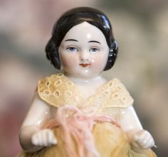 Sweet 5 inch Covered Wagon Frozen Charlotte from abigailsattic on Ruby Lane