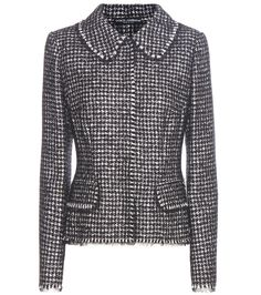 Dolce & Gabbana - Virgin wool, silk, alpaca and mohair-blend blazer - Opt for a classically sophisticated design with Dolce & Gabbana's houndstooth blazer. Crafted in Italy from a luxurious virgin wool, silk, alpaca and mohair blend, this black and white style is tailored with a figure-sculpting cut. We're wearing this with the designer's matching skirt for chic elegance. seen @ www.mytheresa.com