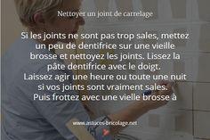 astuce nettoyer joints carrelage