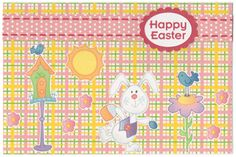 Silhouette Cameo Easter Card with free clip art, digital paper and print and cut files Paper Cutting Machine, Print And Cut, Svg Cuts, Happy Easter, Silhouette Cameo, Clip Art, Kids Rugs, Easter Card, Cutting Files