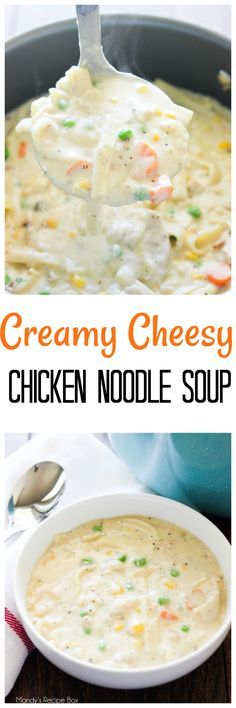 This Creamy Cheesy Chicken Noodle Soup is such a cozy soup for a cold day. Make it all through the cold months to make the seasons even better.