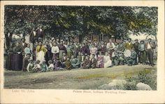 Mariage de Famille Amérindienne à Pointe-Bleue vers la fin des années 1800