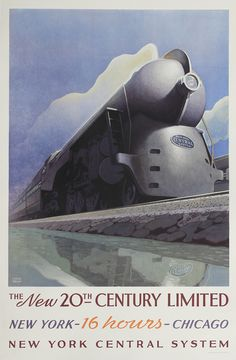The New 20th Century Limited, 1938, Leslie Ragan (1897 – 1972), Latham Litho and Printing Company, Long Island City