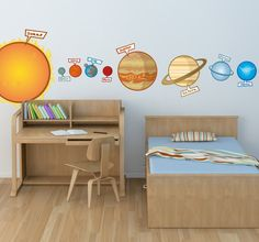 Keep your kids happy and educated! Our #stickers will help you! #decoration #idea #home #decor #DIY #education #planet #earth #sun #mars #saturn #venus #wall #ard #kids #children