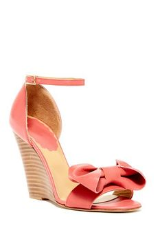 Red Valentino Stacked Wedge Sandal by Non Specific on @HauteLook