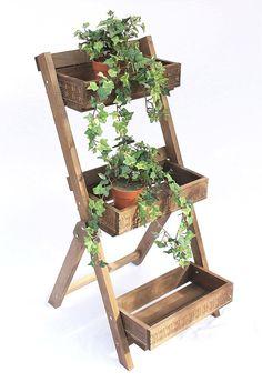 Echelle à fleurs Fiora en bois 90cm Porte fleurs Echelles à fleurs Etagère à fleurs Etagère: Amazon.fr: Cuisine & Maison