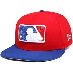 Philadelphia Phillies New Era Clutch Slam Batterman Fitted Hat - Red/Royal Fitted Baseball Caps, Fitted Caps, Baseball Hats, Best Caps, New Era Fitted, New Era Hats, Washington Nationals, Philadelphia Phillies, Mlb