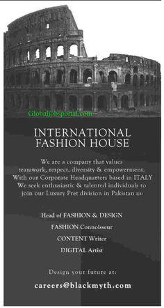 Content Writer Jobs in International Fashion House :http://globaljobsportal.com/jobs/content-writer-jobs-in-international-fashion-house/