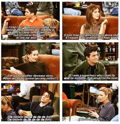 Everyone's thinking ~ Friends Quotes ~ Season 3, Episode 7 ~ The One with the Race Car Bed