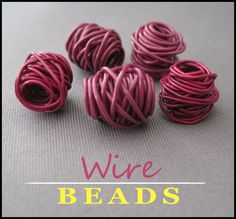 A Creative Chelle: {Tutorial} Wrapped Wire Beads