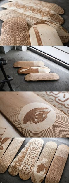 Laser Engraved Skate Decks by Magnetic Kitchen — Kickstarter // Look at Shakah Brah! I want it on a longboard.