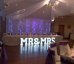 14 best wedding venue dressing by northwest letter lights preston our led backdrop curtain hire gives the ultimate fairytale look to your wedding venue available solutioingenieria Images