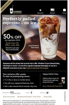 Starbucks email design