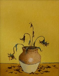 Aww...Banksy does Van Gogh sunflowers.