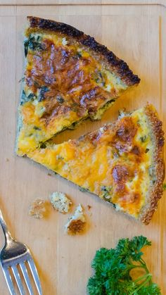 Spinach and Cheddar Quiche Recipe - with a healthy QUINOA crust!