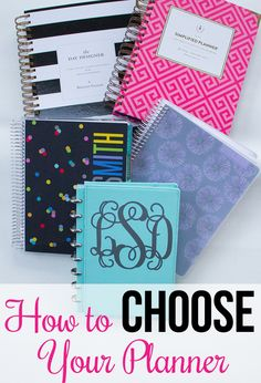 How to Choose Your Planner - How do you know which planner is right for you? Do you need discbound, spiral bound, coil bound, Erin Condren, Plum Paper, Day Designer? Should you get a weekly, monthly, or daily planner? I'll show you to choose a planner that is just right for you.