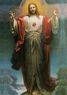 8 June – Blessed and Holy Solemnity of the Most Sacred Heart of Jesus – (Friday after the Second Sunday after Pentecost) and The World Day of Prayer for the Sanctification of Priests. Jesus Our Savior, Heart Of Jesus, Jesus Is Lord, Catholic Religion, Catholic Art, Religious Art, Pictures Of Christ, Jesus Christ Images, Christian Images