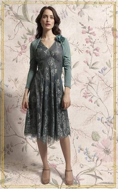 Reef and teal Kristen lace dress