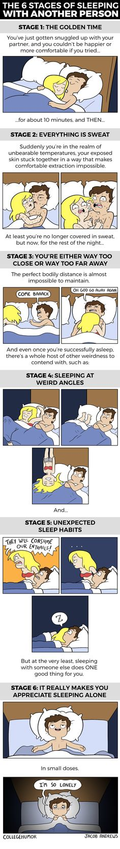 The 6 Stages of Sleeping With Your Partner