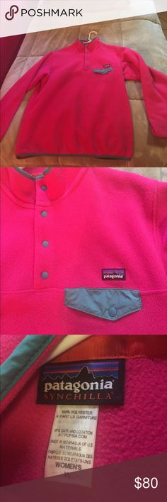Pink Patagonia Synchilla Pink Patagonia Synchilla, women's XL. Perfect condition, only worn once. Super warm! Patagonia Jackets & Coats