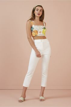 The Finders Keepers Honey Top Features: Fitted crop top Linen blend woven fabric 'Destination' placement print Lined Back zipper Colour: Destination Existing Customer, Finders Keepers, Short Tops, World Of Fashion, White Jeans, Crop Tops, Clothes, Style, Honey