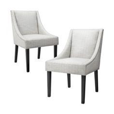 Nailhead Cutback Dining Chair Diamond - Set of 2    $259.99