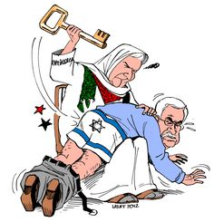 The defunct 'President' of Palestine, Mahmoud Abbas has been successful in garnering the support of the United Nations, but not from the people of his own nation. Description from desertpeace.wordpress.com. I searched for this on bing.com/images