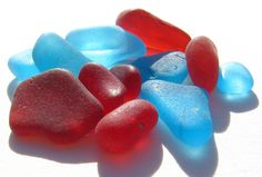 Turquoise & Red Sea Glass