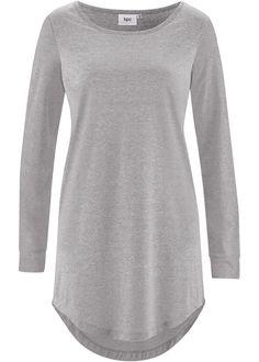 Blusa longa mullet cinza claro mesclado encomendar agora na loja on-line bonprix.de  R$ 79,90 a partir de Blusa de modelo alongado e corte largo. De decote ...