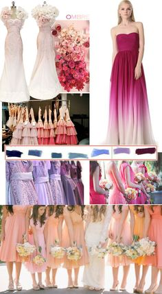 ombre wedding theme in 2014 #Labola loves #bridesmaid #dresses.. follow us on Facebook to stay inspired for your big day . www.labola.co.za