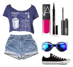 """""""Come on ✨"""" by melissahm ❤ liked on Polyvore featuring Converse, NARS Cosmetics and Elizabeth Arden"""