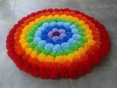 pompones lana alfombra - Buscar con Google