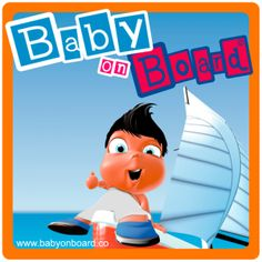 Baby On Board Stickers - Aaron Sailing