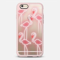Neonflamingos - New Standard iPhone 6/6S #Protective Case in Pink Gray and Clear by Olga Komasinska #phonecase #flamingo | @casetify