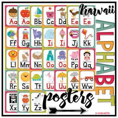 """This set of alphabet posters is perfect for any early childhood classroom! Included in this set is one 8.5"""" x 11"""" poster for each consonant of the alphabet. Each vowel has two posters: one for the long vowel sound and one for the short vowel sound."""