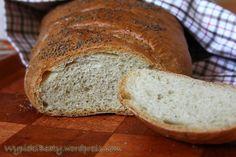 Przepis: chleb pszenny jak z piekarni. Najlepszy domowy chleb pszenny - lepszego nie jedliście - pyszny i z chrupiącą skórką - polecam :) Food And Drink, Easy Meals, Cooking Recipes, Menu, Baking, Cake, Sweet, Breads, Tiramisu