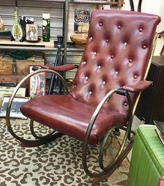 1930's Designer Rocking Chair  By Lee Woodard   $595  Lula B's in the OC! 1982 Ft. Worth Ave. Dallas, TX 75208
