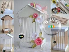 Cómo Hacer Jaula De Cartón - Tozapping.com Diy Arts And Crafts, Diy Crafts, Crafts For Seniors, Ideas Para Fiestas, Candy Table, 8th Of March, Halloween Themes, Small Gifts, Diy Furniture