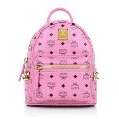 MCM Tasche – Stark Backpack X-Mini Pink – in pink aus Kunstleder – Umhängetasche für Damen