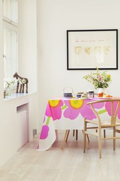 Spring decoration with Marimekko Inspired Homes, Grand Opening, Home Collections, Scandinavian Style, House Colors, Decoration, Decorating Your Home, Home Furnishings, Printing On Fabric