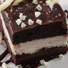 Chocolate and White Mousse Layered Cake