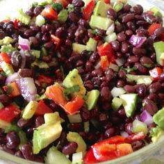 Heather joins us with another post in her series Aldi-licious here at Simply Frugal Living. Heather's recipes feature ingredients purchased excl Fruit Salad, Cobb Salad, Aldi Recipes, Famous Black, Bean Salad, Frugal Living, Black Beans, Get Healthy, Salads